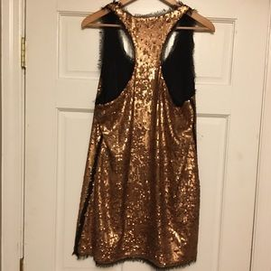 Rachel Roy Rose gold sequence dress